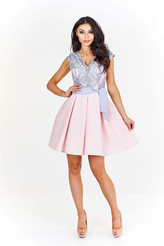 Krátké šaty Emma šedé  493c7373fd