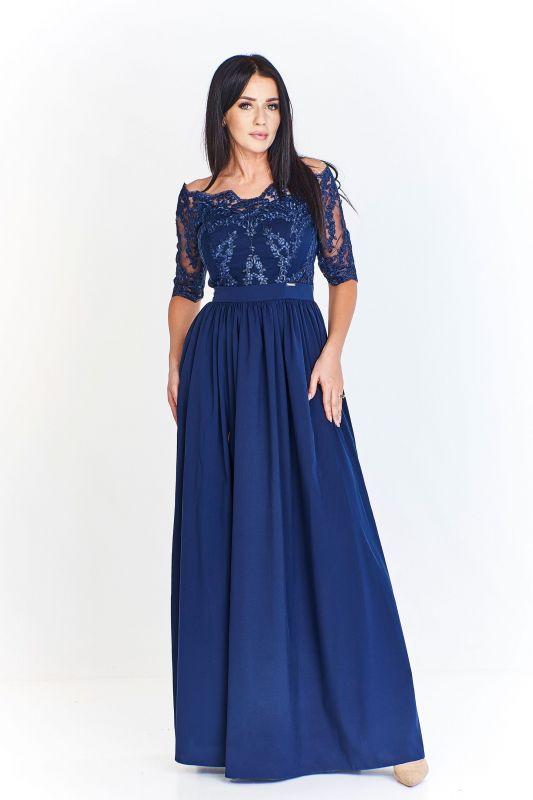 Krajkové šaty královsky modré  b88b31e30a8