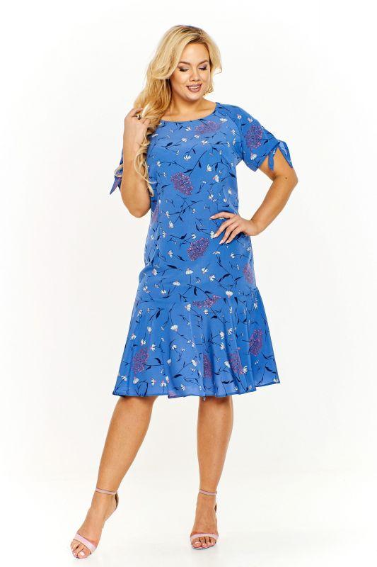f7b57b657 Květované šaty modré
