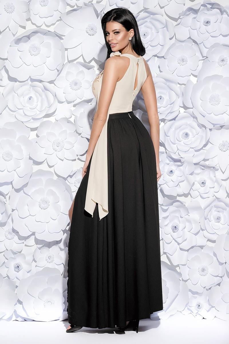 10adf1837f6 Šaty Leila černo-béžové